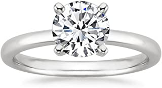 2 Carat Round Cut 4 Prong Solitaire Diamond Engagement Ring (J Color SI2 Clarity Center Stones)