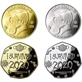 'I Survived 2020 Commemorative Coin' - 2020 commemorative coins new year (4 PCS)
