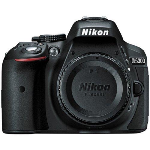 Nikon D5300 24.2 MP CMOS Digital SLR Camera (Black) with Nikon 18-55mm f/3.5-5.6G VR II AF-S DX NIKKOR Zoom Lens + 32GB Accessory Bundle International Version (No Warranty)