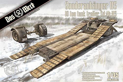 DAS WERK DW35002 Sonderanhänger 115-10t Tank Trailer Sd.Ah.115-1:35