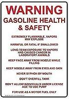 ティンサインのアルミ金属サイン警告ガソリンの健康と安全非常にサインおかしいヤードサインカフェバーのヴィンテージの壁の装飾パブホームビール装飾工芸品レトロなヴィンテージサイン