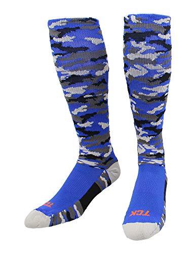 TCK Sports Elite Performance Over The Calf Camo Socks (Royal Camo, Medium)