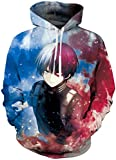 PANOZON Sudaderas Hombres Anime con Capucha Sweater Figura Bakugo Camiseta de Anime Mangas Largas (L...
