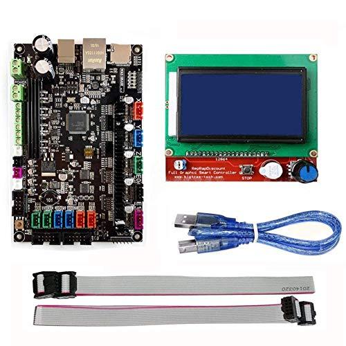 DJY-JY MKS-SBASE placa del módulo de control de placa base Junta V1.3 + rampas Pantalla LCD 1.4 12864 for el monitor de la impresora 3D