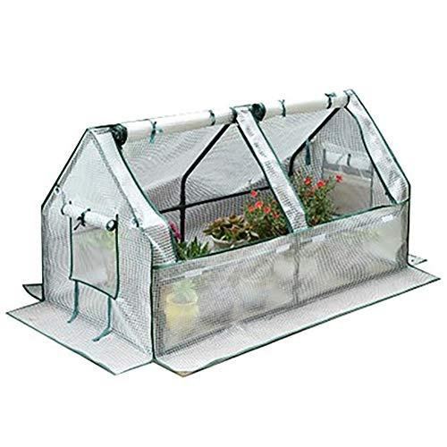 LQQ Tomaten tomatenhaus Gewächshaus Im Freien mit PE-Abdeckung, Tragbares Treibhaus für Obst, Gemüse, Pflanzen, Blumen, Gartenhaus Boden, Wasserdichter Sonnenschutz