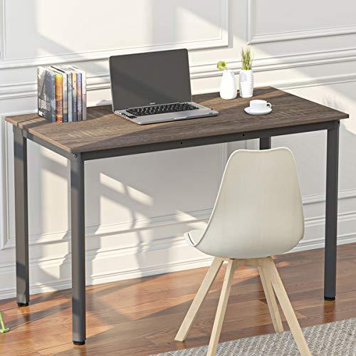 WeeHom Computer Desk 55 Inch Computer Table Office Desk Workstation for Home Office Make Up Table Modern Simple Style,Black Oak + Black Leg