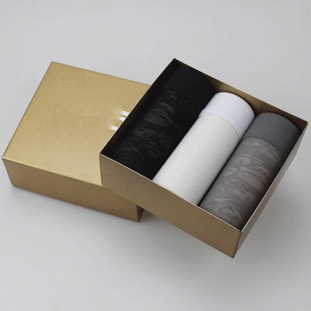 DIAOD 3Pcs Mens Ice Silk Breathable Printed Boxer Underpants Male Underwear Box for Man (Color : Multicolor 1, Size : XXXL Code)