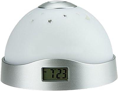 Merssavo LED Multicolor Cielo Estrellado Estrellas Proyección Reloj Despertador Digital