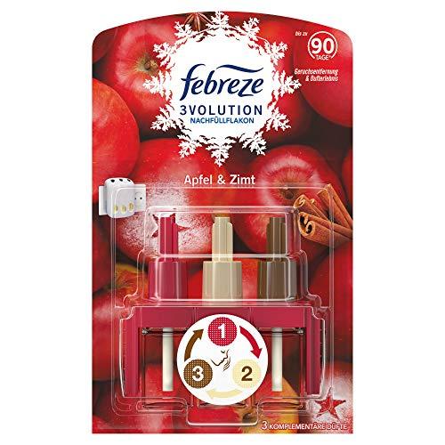 Febreze 3Volution Duftstecker (20 ml) Apfel & Zimt, Nachfüller, Raumduft und Lufterfrischer