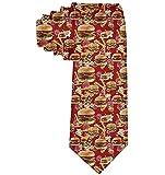 Men 'S Hamburger rosso patatine fritte in seta poliestere casual Gentleman cravatta cravatta regalo-taglia unica