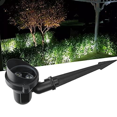 Focos para césped, luz de pico de jardín de 3W DC12V con cabezal de lámpara ajustable para camino para exteriores