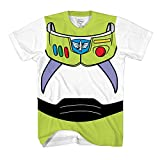 Toy Story Buzz Lightyear Astronaut Costume Adult T-shirt (Extra Large, Buzz)