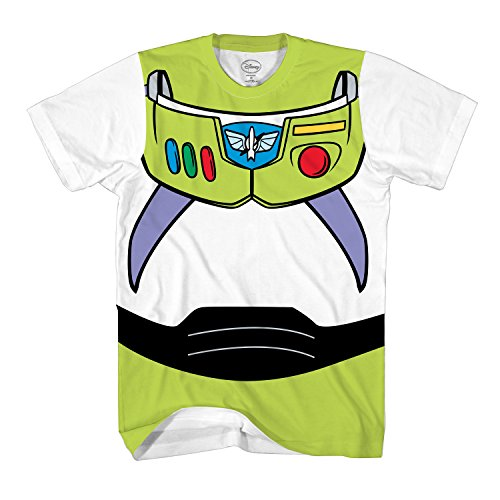 Toy Story Buzz Lightyear Astronaut Costume Adult T-Shirt (Large, Buzz)