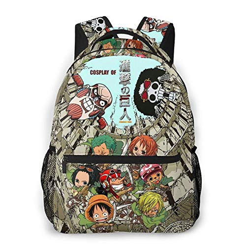 Attack On Titan Environmentally Friendly, Lightweight, Large-Capacity, Multi-Function Backpack, Suitable for Camping, Travel, Etc
