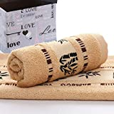 Heliansheng Cubierta de Toalla de Fibra de bambú Fina Engrosamiento doméstico Diario Toalla de Cara para Adultos Toalla de baño Engrosamiento -Café-34x75-70x140