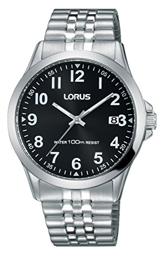 Lorus Klassik Herren-Uhr Edelstahl mit Metallband RS971CX9