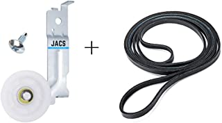 Samsung Dryer Idler Pulley by JACS DC93-00634a - [Upgraded Dual Ball Bearings] & 6602-001655 Belt - DC96-00882c DC97-07509b AP6038887 AP4373659 5ph2337 AP4213616