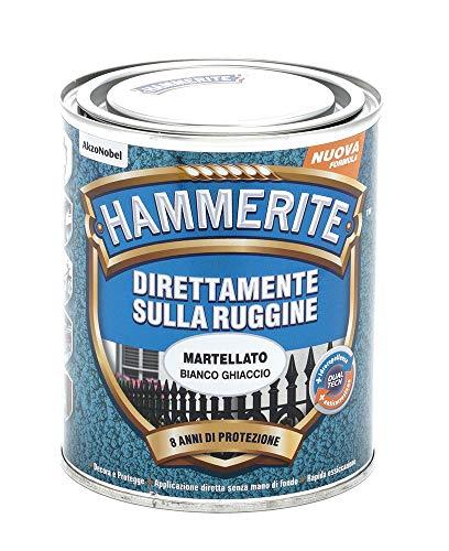Hammerite Direttamente Sulla Ruggine Martellato Bianco Ghiaccio 0.75 L