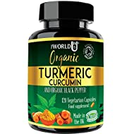 Ultra Pure Organic Turmeric Curcumin and Organic Black Pepper Capsules High Strength Food Supplement...