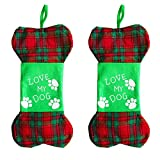EASTOP Dog Christmas Stocking Bones 2 Packs (Bone)
