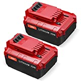 Firstpower 2Pack 6.0Ah 20V Lithium Battery PCC685L for Porter Cable Replacement 20V MAX Lithium ion Battery PCC680L PCC682L Compatible with Porter Cable 20 Volts Cordless Tools