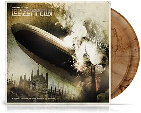 Many Faces Of Led Zeppelin Various Ltd Gatefold 180gm Brown Marble Vinyl product image