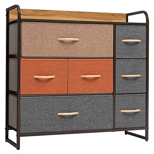 Crestlive Products Wide Fabric Dresser with 7 Drawers - Storage Tower with Large Capacity, Organizer...