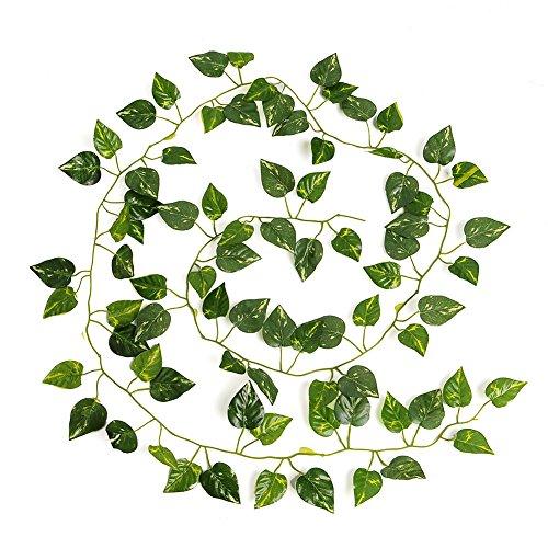Kicode Guirlande Evergreen Vigne Plantes Feuilles Hanging Faux Décoration intérieure pour extérieur intérieur 79