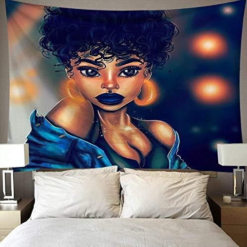 Tapiz de arte negro, tapiz de pared, arte Hippie, moda, tapiz de pared para mujeres afroamericanas, tela de fondo a8, 73x95cm