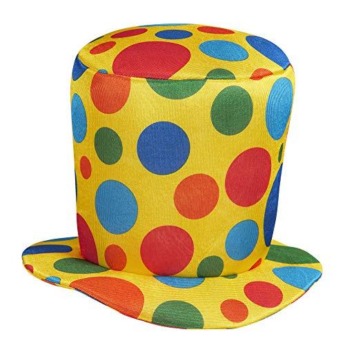 Cappello clown cilindro per travestimento pagliaccio