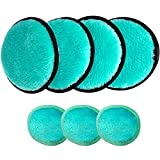 Mary lavender Multifunctional Makeup Remover Pads for Face Eyes 7 Pack, Washable Reusable Face Cleansing Wipes Puff, Makeup Remover Cloth, Powder Puff, Cotton Pads Cotton Rounds Makeup Wipes