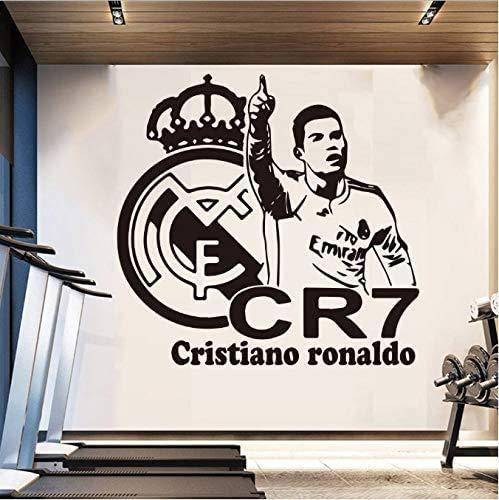 Fußballstar Cr7 Ronaldo Fußball Wandaufkleber Raumdekoration Zubehör Für Kinder Raumdekor Wandkunst Dekoration 58Cm X 55Cm