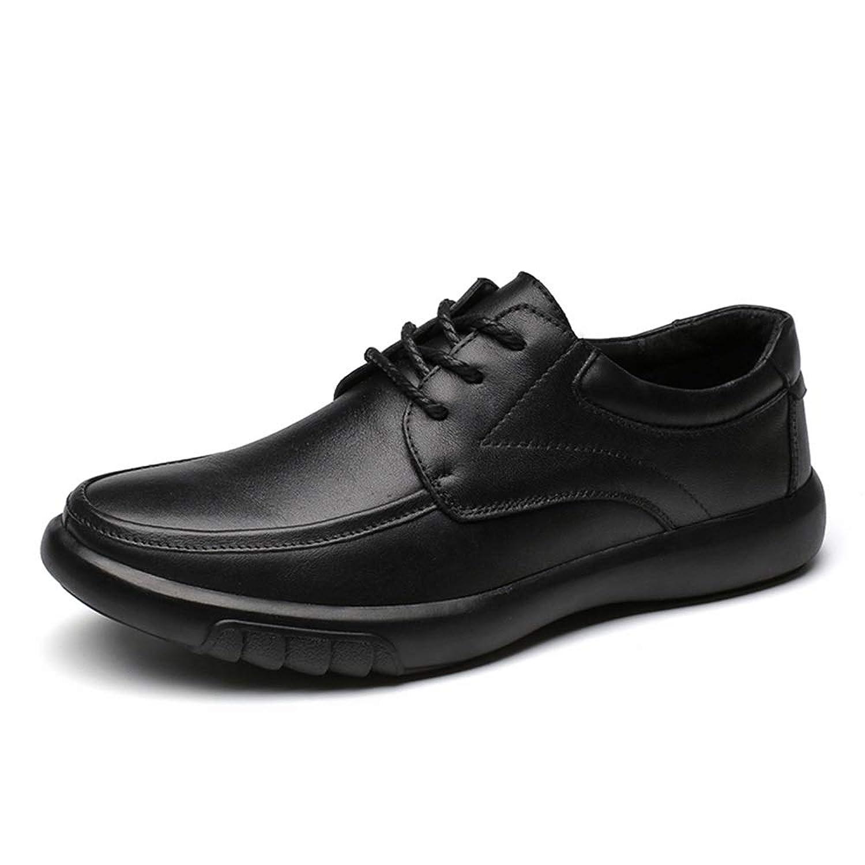 [ワイエルワイ] ビジネス シューズ カジュアル 耐久 防滑 通気 簡単着脱 軽量 革靴 メンズ