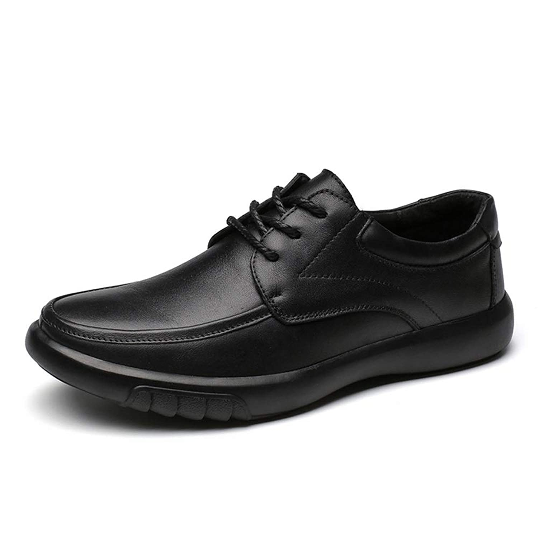 [Tiandao] ビジネス シューズ カジュアル 耐久 防滑 通気 簡単着脱 軽量 革靴 メンズ