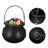 STOBOK 12 Stück Hexenkessel Schwarz,kleine Hexe Süßes oder Saures Süßigkeiten Halter Halloween Candy Bucket - 4