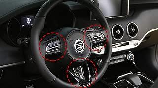 Zenocide Black 3Pcs Car Steering Wheel Handle Protector Decal Sticker for Kia Stinger 2018