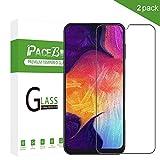 Película protetora PaceBid Samsung Galaxy A50 [Pacote 2] [Anti-Scratch] [Dureza 9H] [Anti-impressão digital] Protetor de tela de vidro temperado para Samsung Galaxy A50