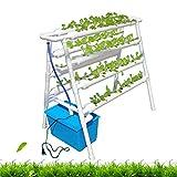 水耕栽培キット、4層8パイプPVC水耕栽培システム、72サイト