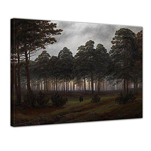 Wandbild Caspar David Friedrich Tageszeitenzyklus, Der Abend - 60x50cm quer - Alte Meister Berühmte Gemälde Leinwandbild Kunstdruck Bild auf Leinwand