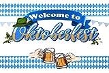 Oktoberfest Party Decorations Set, Fotografía Telón de Fondo 180 X110 cm Decoración de cumpleaños la Fiesta de Interior Foto Estudio Apoyos