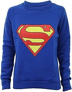 19178ac220e11 Pull Sweatshirt Femme Imprimé Logo Batman ou Superman Tendance Neuf