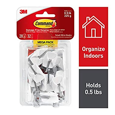 Command Wire Hooks, White, Indoor Use (17067-MPES)