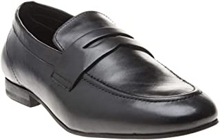 H by Hudson Bolton Saddle Goat Mens Shoes Black