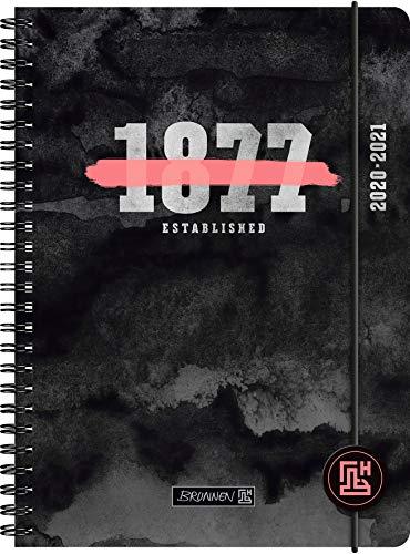 """BRUNNEN 1072150011 """"Neon"""", Wochenkalender/Schülerkalender 2020/2021, 2 Seiten = 1 Woche , Blattgröße 14,8 x 21 cm , A5 , PP-Einband"""