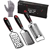 KEOUKE Grater for Kitchen - 3 Grater Set Cheese Grater Zester...