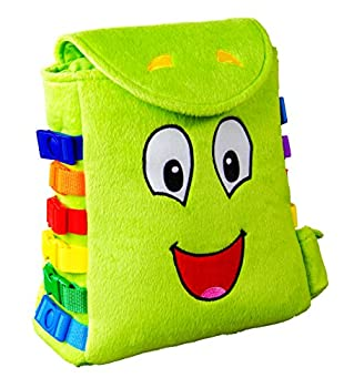 Buckle Toy Buddy Backpack - Toddler Busy Board Activity - Fine Motor & Sensory Learning Travel Toys