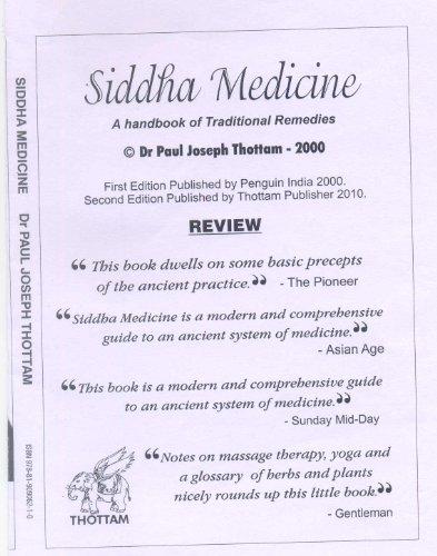 SIDDHA MEDICINE HANDBOOK OF TRADITIONAL REMEDIES