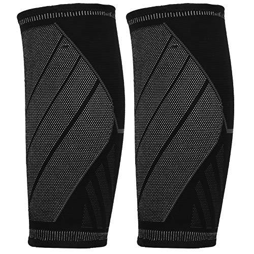 Redxiao Elastischer, bequem zu tragender Kompressions-Beinschutz, Unisex-Wadenschutz Unisex-Wadenschutz, atmungsaktive und Dehnbare L-Sportschutzausrüstung für den Leistungssport(Black L Code)