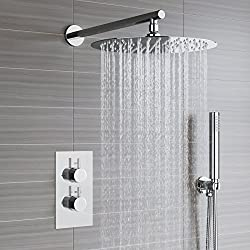 iBathUK Round Head Thermostatic Mixer Shower