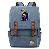 Hydxsjh JoJo's Bizarre Adventure Mochila para Portátil De 16 Pulgadas Vintage para Portátil Anime Backpack Cartoon Animation,G